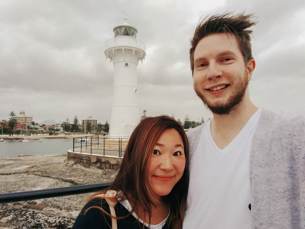 in front of the light house