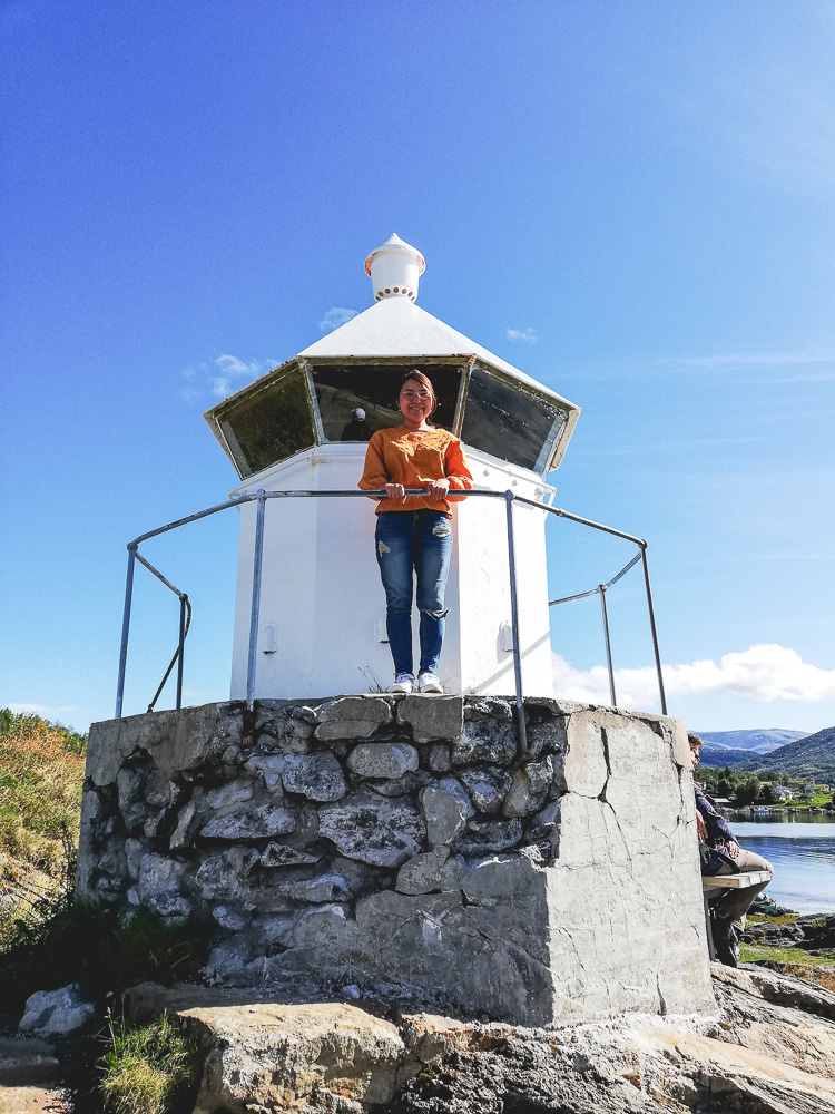 megu on a lighthouse