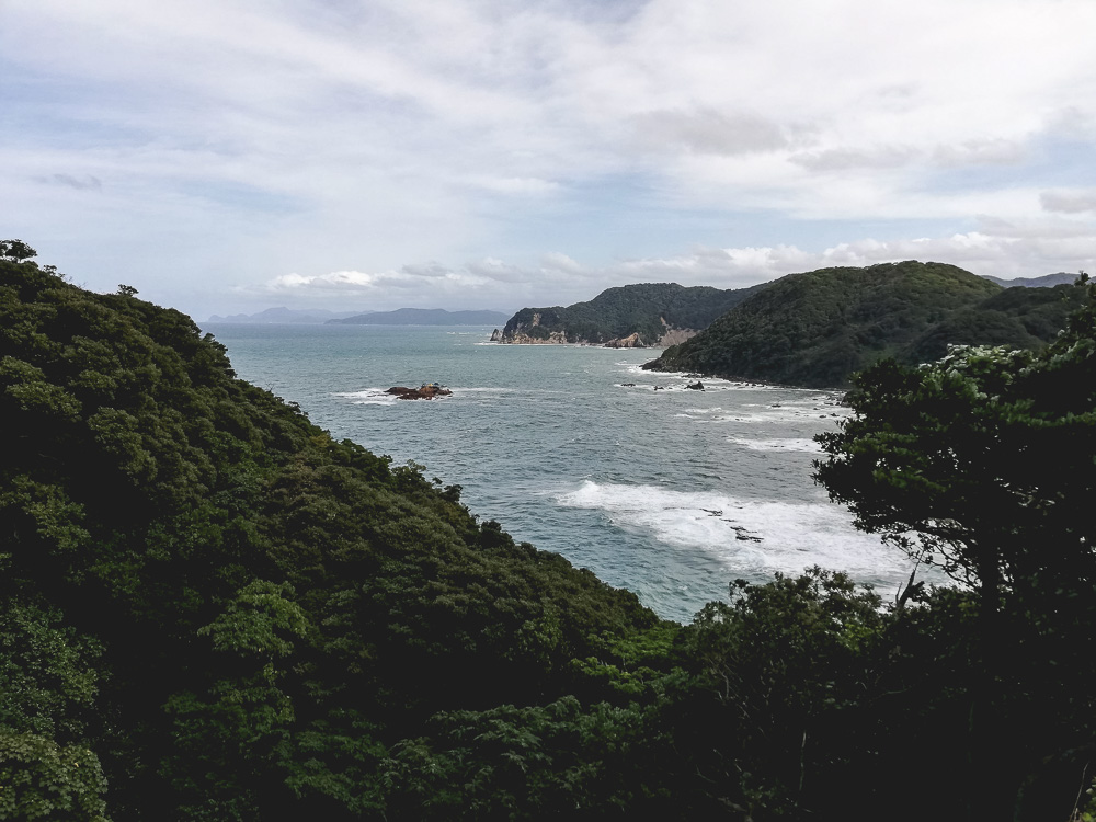 view from a lookout in seto, toyooka